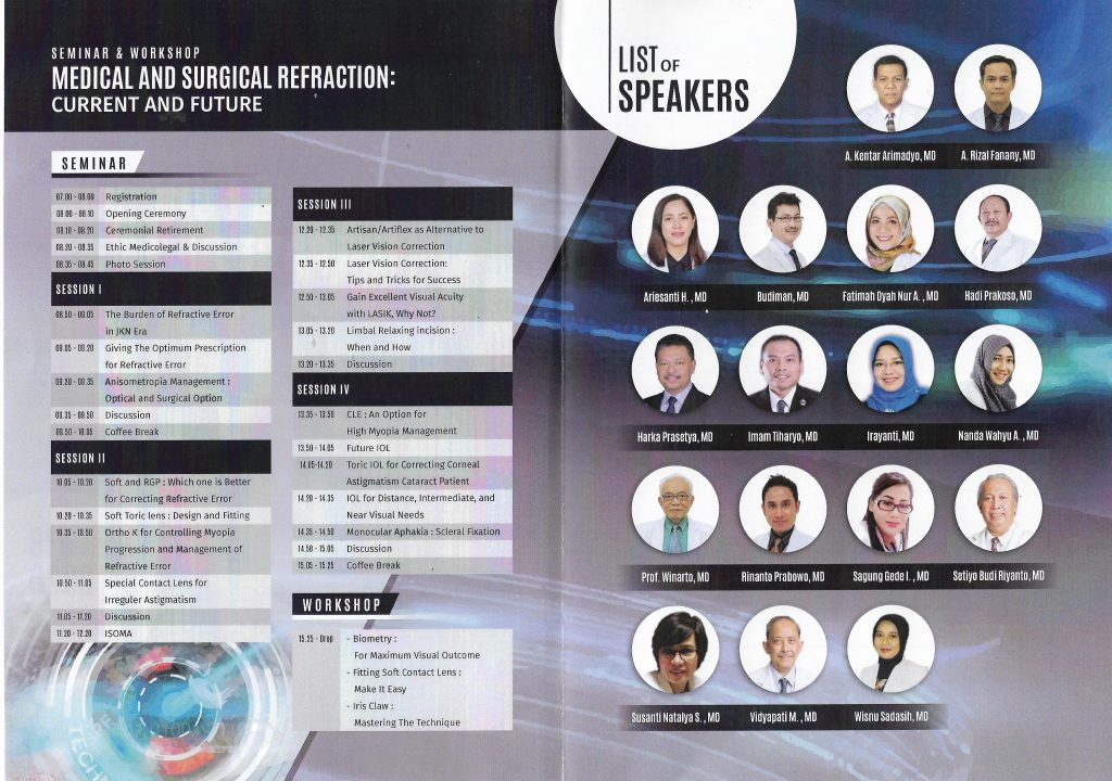 Seminar & Workshop Medical and Surgical Refraction : Current and Future 1