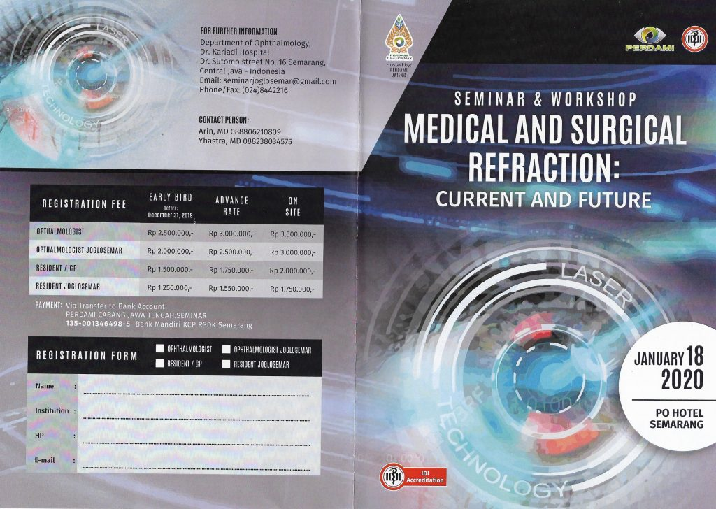 Seminar & Workshop Medical and Surgical Refraction : Current and Future 2